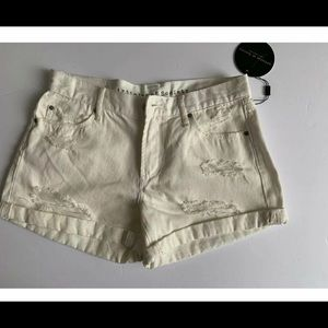 Articles of Society Women's Cream Destroyed Shorts